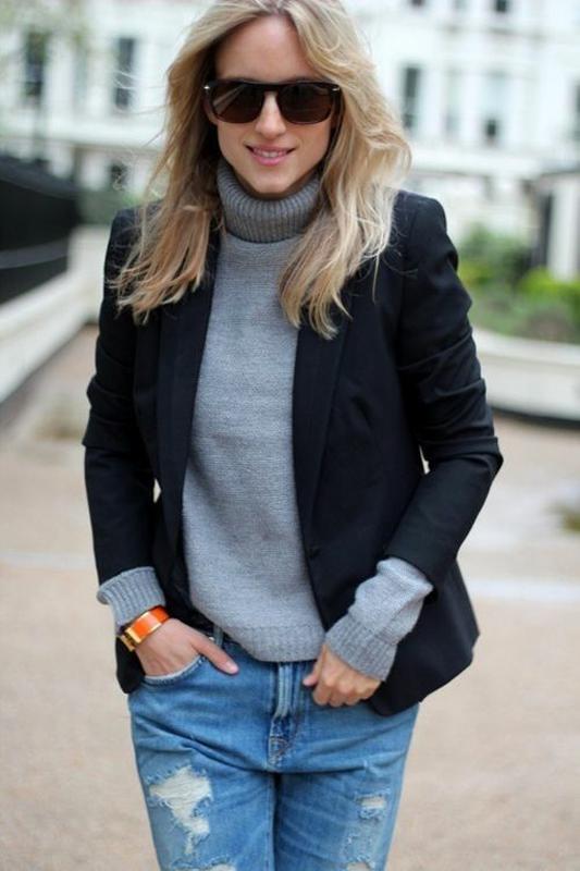 С чем носить теплые водолазки женщине 50+, чтобы не подчеркивать недостатки