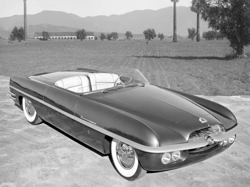 Dodge Firearrow I Roadster Concept Car 1953 года Dual-Ghia, ghia, авто, автодизвйн, автомобили, кабриолет, олдтаймер, ретро авто