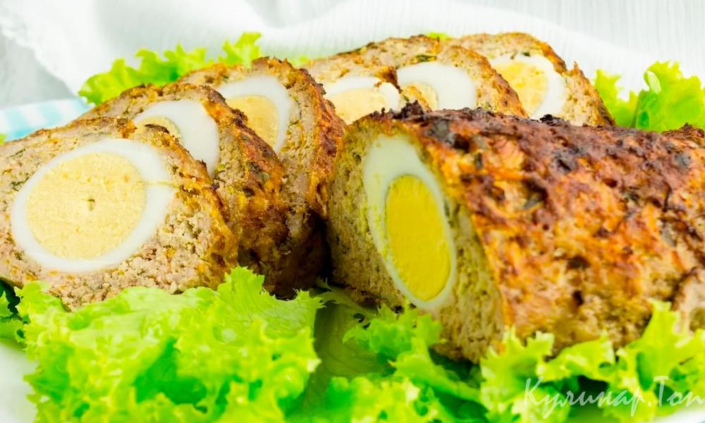 Мясной рулет с яйцом: 4 лучших рецепта закуски,мясные блюда,рецепты