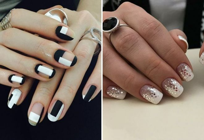 Белый шеллак на короткие ногти 2019