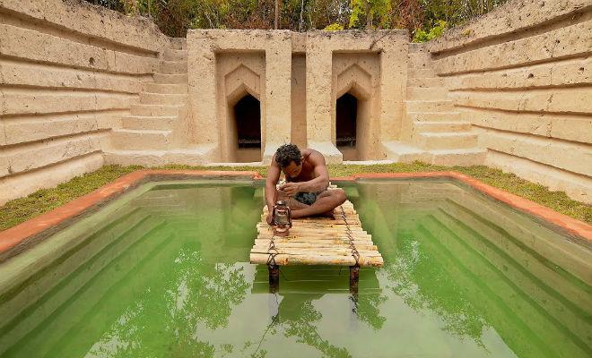 Мужчина копал яму 60 дней: построил подземный двор с бассейном с помощью одной лопаты Культура