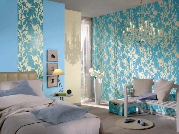 спокойный интерьер спальни как скомбинировать обои