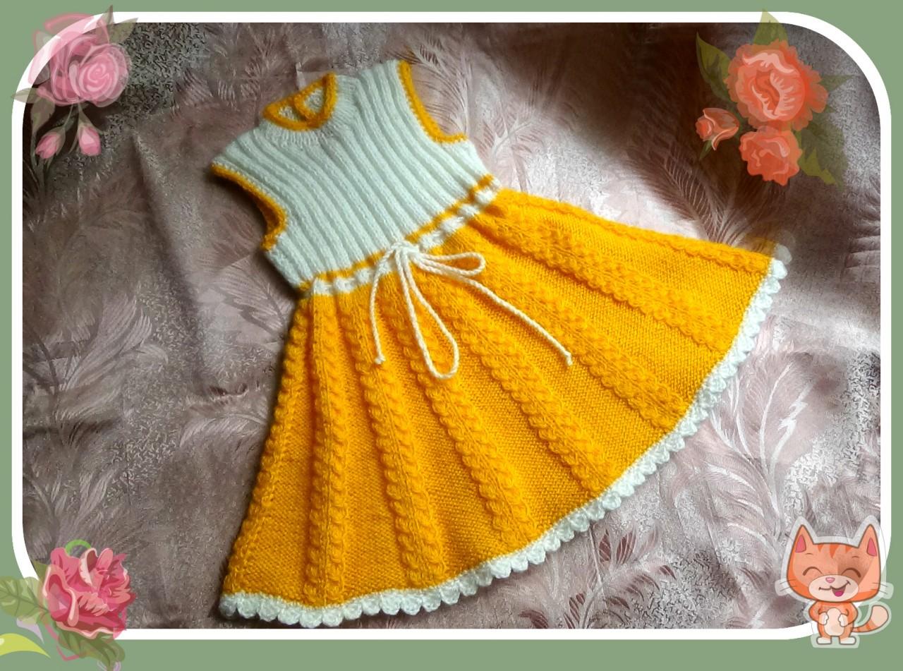 Платье-сарафан для девочки 2-3 лет