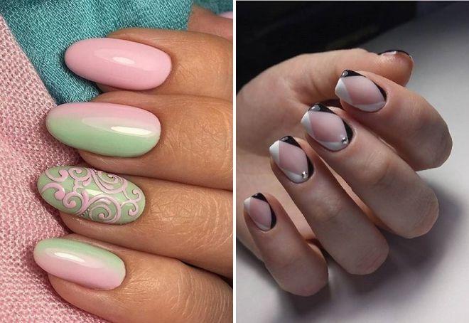 Модный дизайн ногтей шеллак 2019