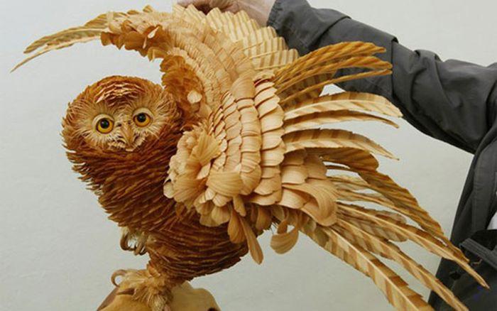 Настоящие произведения искусства из щепок кедра