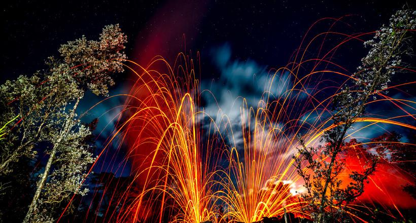 Извергающийся Килауэа: фантастической красоты вулкан гавайской богини