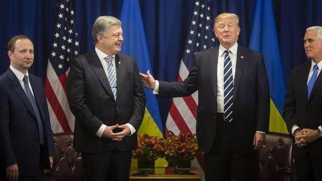 Ураганная стенограмма встречи  Трампа и Порошенко