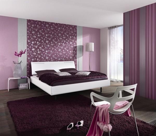 как скомбинировать обои в спальне уютный дизайн интерьера