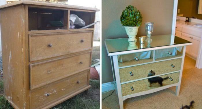 Как из бабушкиного хлама сделать классную дизайнерскую вещь Мебель