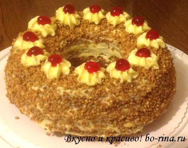 Торт «Франкфуртский венок» (Frankfurter Kranz)