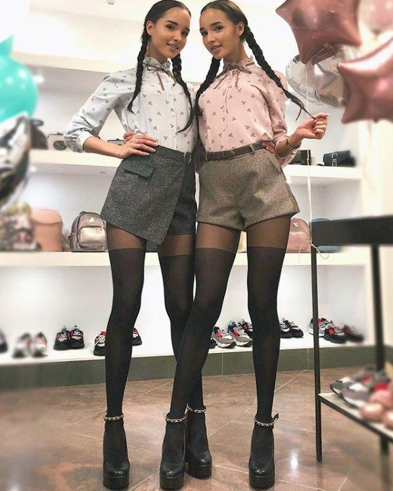 Симпатичные близняшки из Каз…