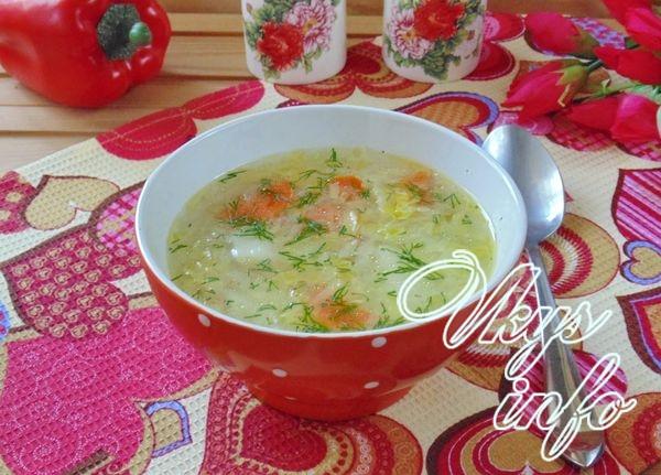 Постный суп из картофеля с овощами