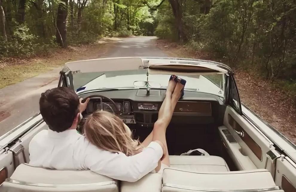Для, открытки он и она в машине