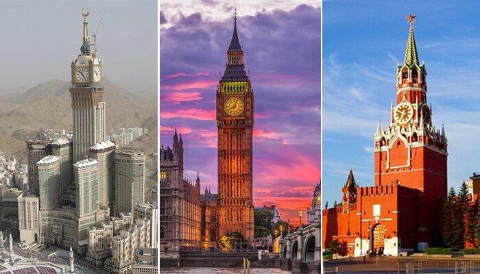 Самые знаменитые часовые башни разных стран башенные часы, самое большое, символ горда