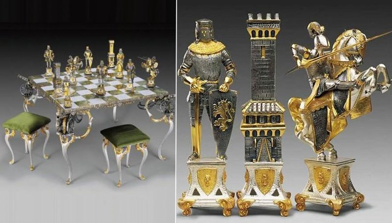 Комплект шахмат Пьеро Бенцони ‒ Каролинги XIV , 103.000 долларов искусство, красота, мастерство, невероятное, талант, шахматы