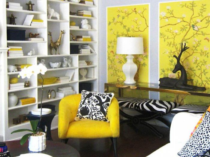 Яркие панели на стенах. | Фото: Deskgram.