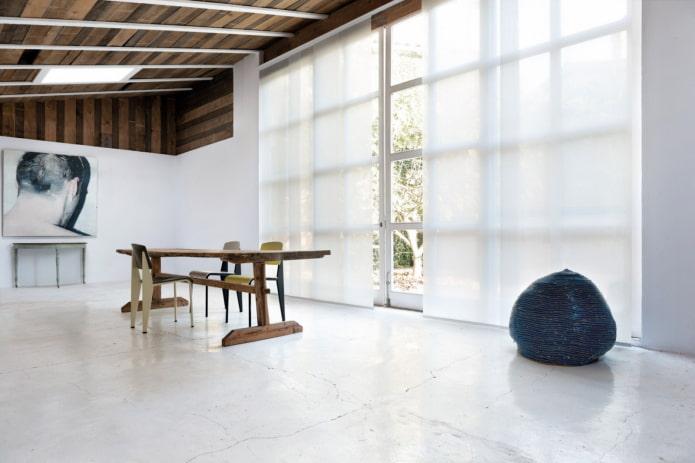 японские панели в стиле минимализм