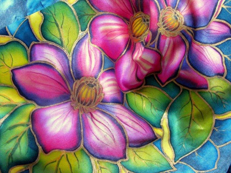Женственность и пленительность изделий в технике холодного батика батик,роспись,рукоделие