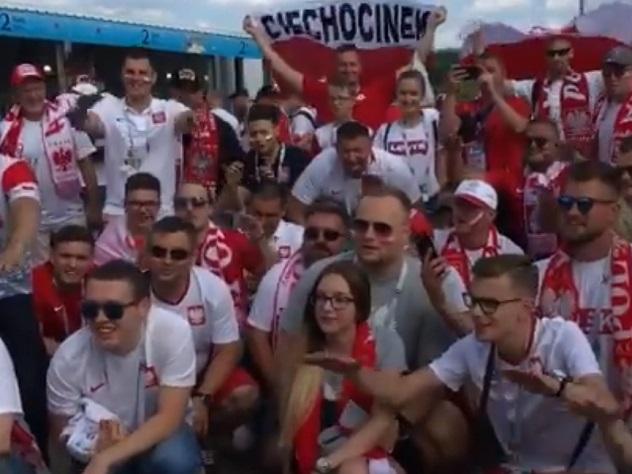 Польские болельщики спели «К…