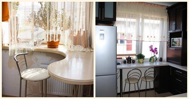 15 удачных идей для подоконника на кухне в малогабаритной квартире