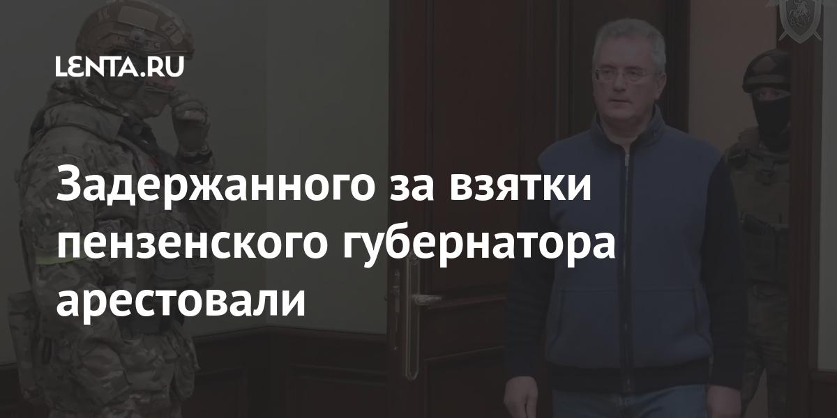 Задержанного за взятки пензенского губернатора арестовали Силовые структуры