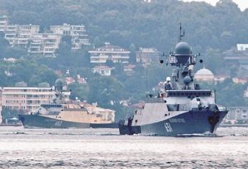 Корветы Каспийской флотилии вошли в Средиземное море