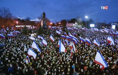 Крым с Севастополем отмечают годовщину воссоединения с Россией