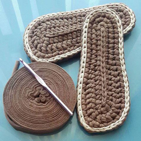 Домашние тапочки вязаные крючком вязание крючком