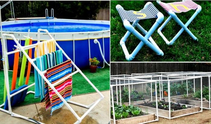 18 нестандартных идей применения ПВХ-труб на садовом участке