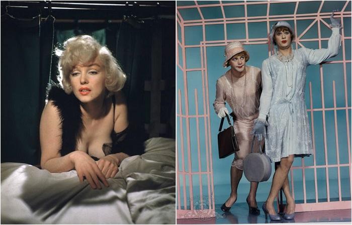 20 архивных цветных снимков со съемок фильма «В джазе только девушки»