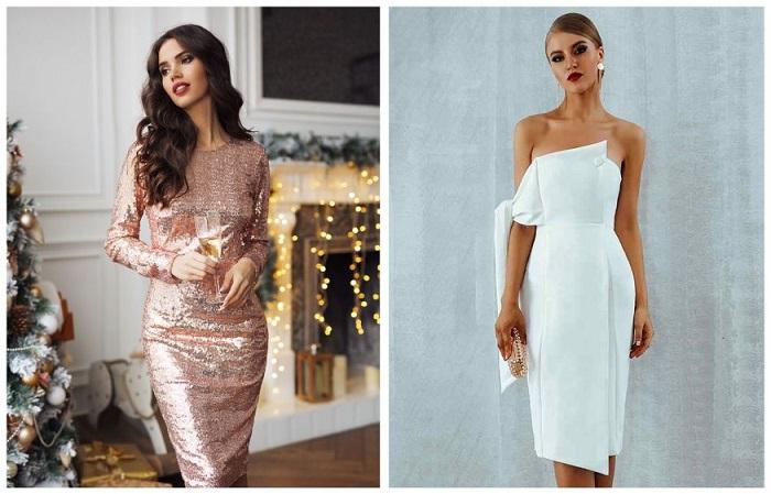 Выбирайте платья с изюминкой - блестящие или с открытыми плечами