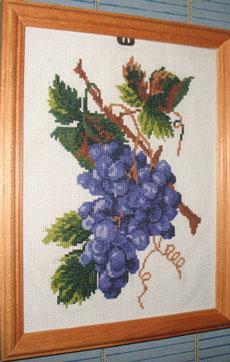 """Схема для вышивки крестом """"Гроздь винограда"""""""
