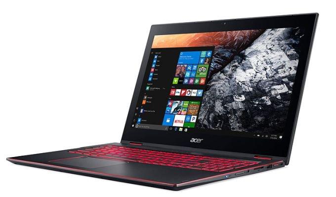 Ноутбук-трансформер Acer Nitro 5 Spin на базе Intel Core 8-го поколения