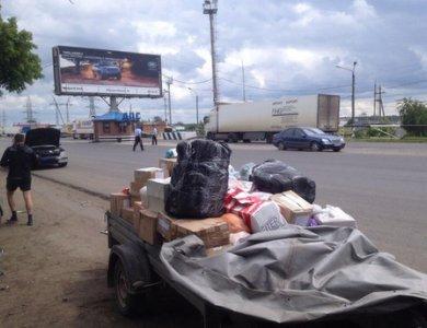 На посту ДПС в Зеленовке требовали денег с тюменцев, везущих гуманитарный груз для Луганска