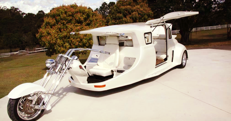 Это Харли Дэвидсон — гибрид мотоцикла и лимузина