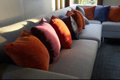 Бархатные подушки