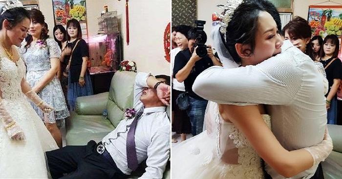 Мужчина так не хотел расставаться со своей любимой дочерью, что устроил истерику на ее свадьбе