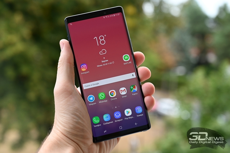 Российский рейтинг лучших смартфонов 2018 года возглавил фаблет Galaxy Note 9 новости