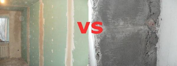 Черновая отделка стен: гипсокартон или штукатурка?