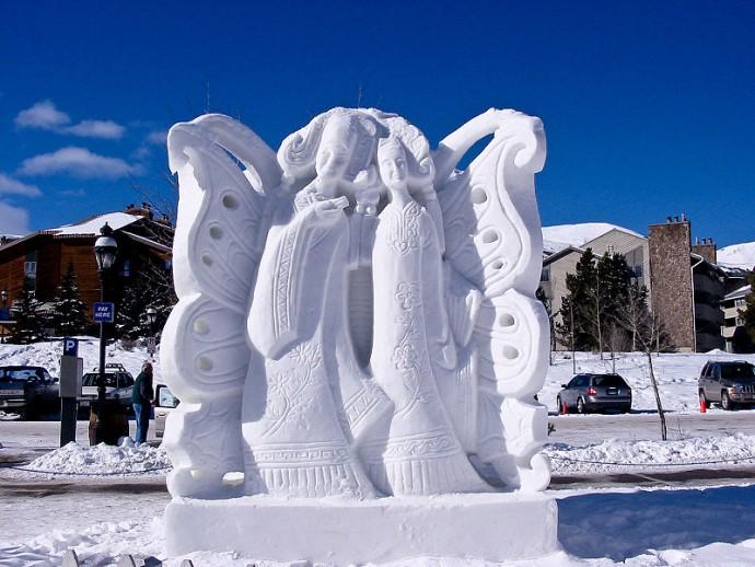 Красивые снежные скульптуры: великолепные идеи для грандиозного творчества вдохновляемся,скульптура,творчество