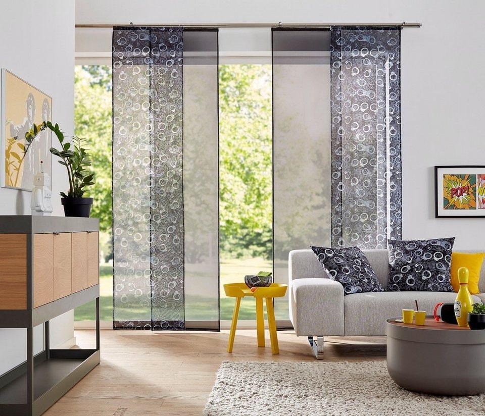 Японские шторы – лучшие идеи оформления интерьера-5