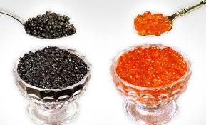 Красная и чёрная икра для украшения салатов и закусок