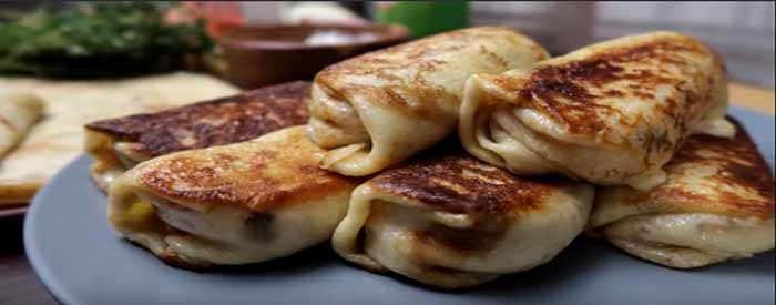Блины с ветчиной и сыром: пошаговый рецепт