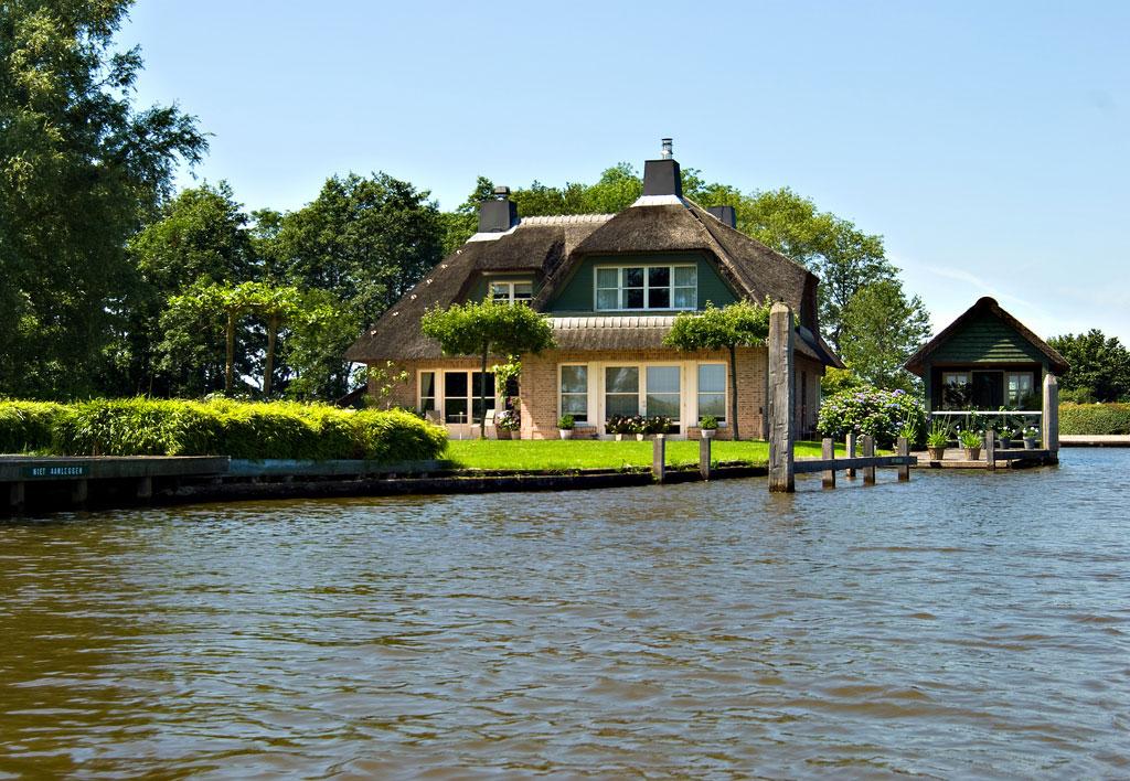 Гитхорн - деревня без дорог, Нидерланды архитектура,ландшафтный дизайн