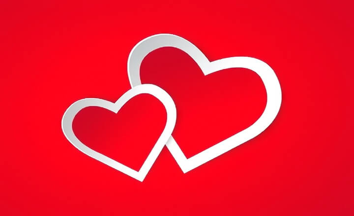 Трафареты сердец