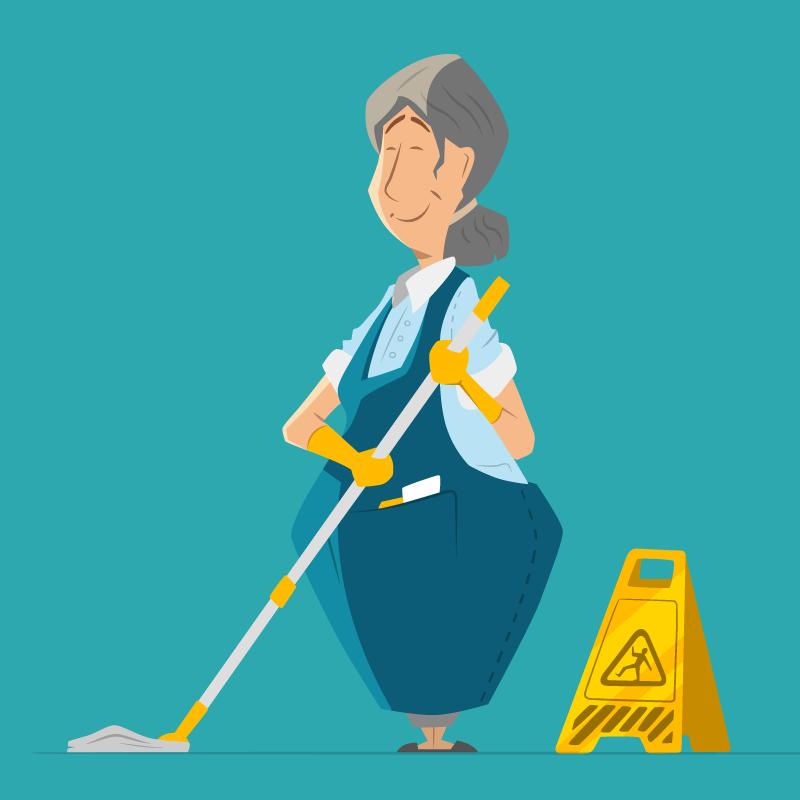 Анекдот про совет уборщицы офисным работникам