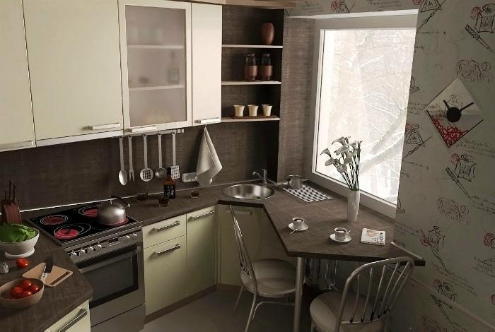 15 очаровательных решений по обустройству крошечных кухонь и санузлов