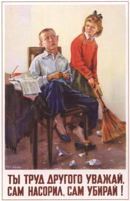 История страны в плакатах, посвящённых детям