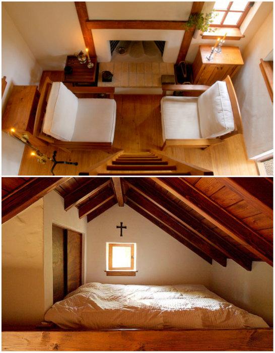 Благодаря второму ярусу удалось идеально обустроить крошечный домик (Innermost House). | Фото: interiorsmall.ru.