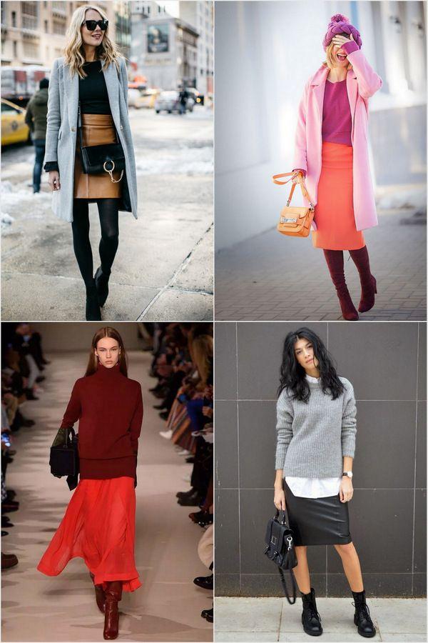 Какие юбки носить зимой? Как выбрать зимнюю юбку?
